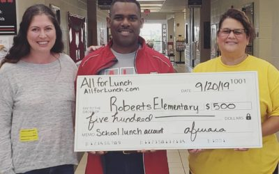 All for Lunch visits Roberts Elementary